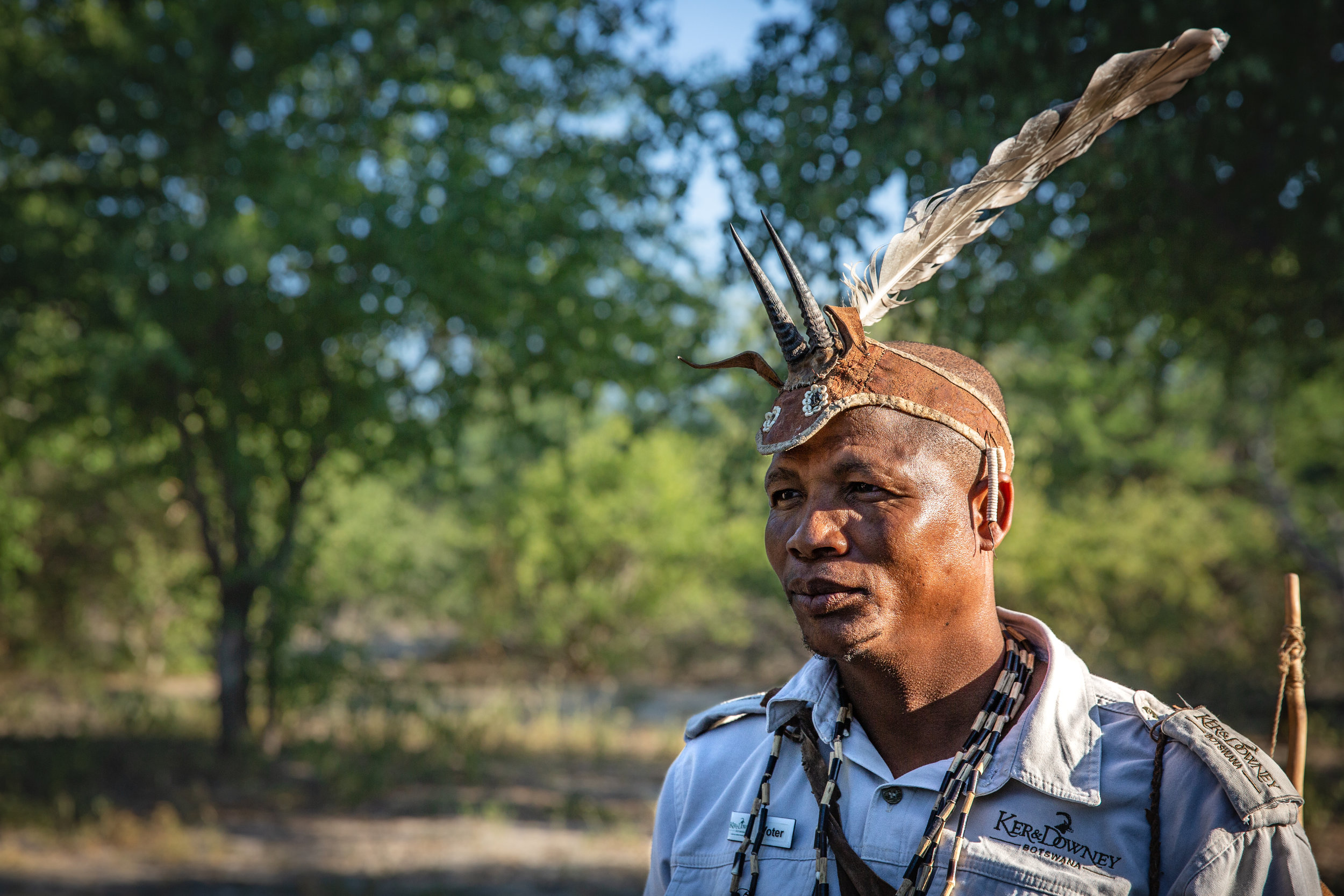 Voter, a Bush Guide in Botswana. In partnership with  Ker & Downey, Botswana