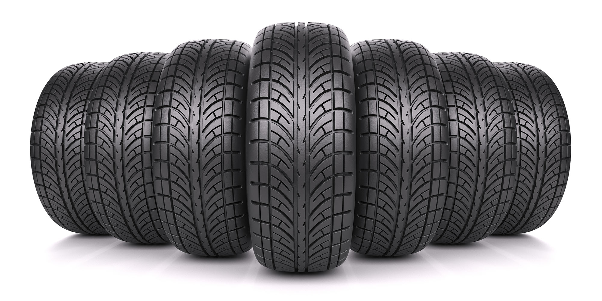 Tyres in row