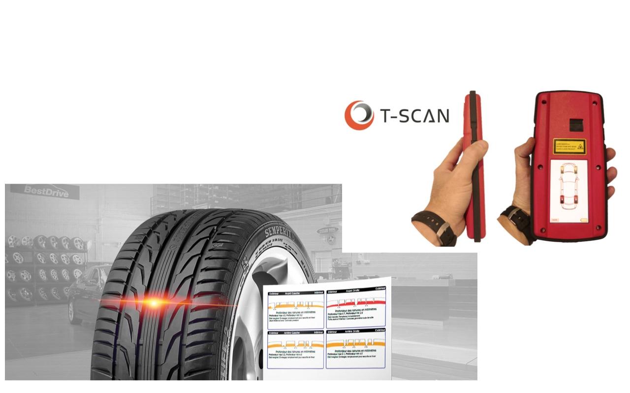 T-scan - L'analyse de la structure interne de vos pneus. Une révolution qui nous permet un contrôle sur plus de 200 points.Notre équipe réalisera cette analyse gratuitement,sans rendez-vous et vous remettra un rapport détaillé de l'état de vos pneus.N'hésitez pas, venez nous voir.