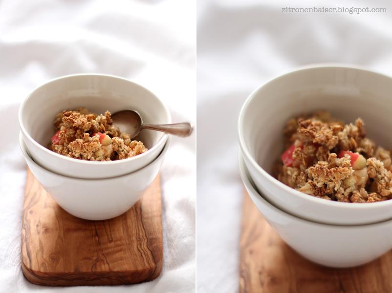 Rezept gesunder Apple Crumble Zitronenbaiser Foodblog