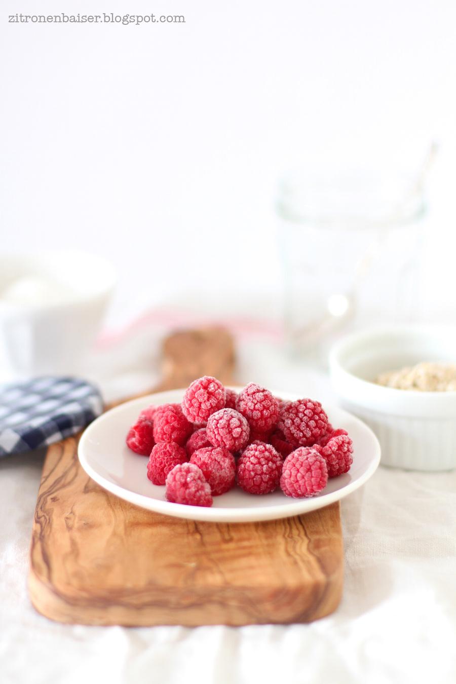Rezept für Overnight Oats mit Himbeeren / Theresa Kellner