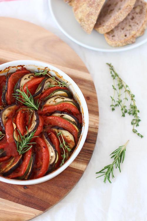Ratatouille mit Baguette The.Waitress. Blog