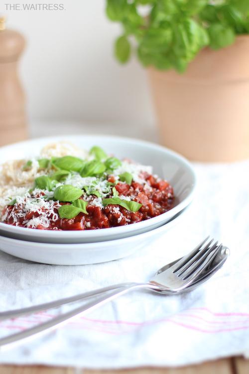 Rezept Pasta mit Linsen-Bolognese / THE.WAITRESS. Foodblog