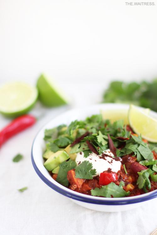 Rezept für ein feuriges Chili sin Carne mit dunkler Schokolade / THE.WAITRESS. Foodblog