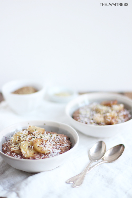 Rezept für Porridge mit karamellisierter Banane / THE.WAITRESS.