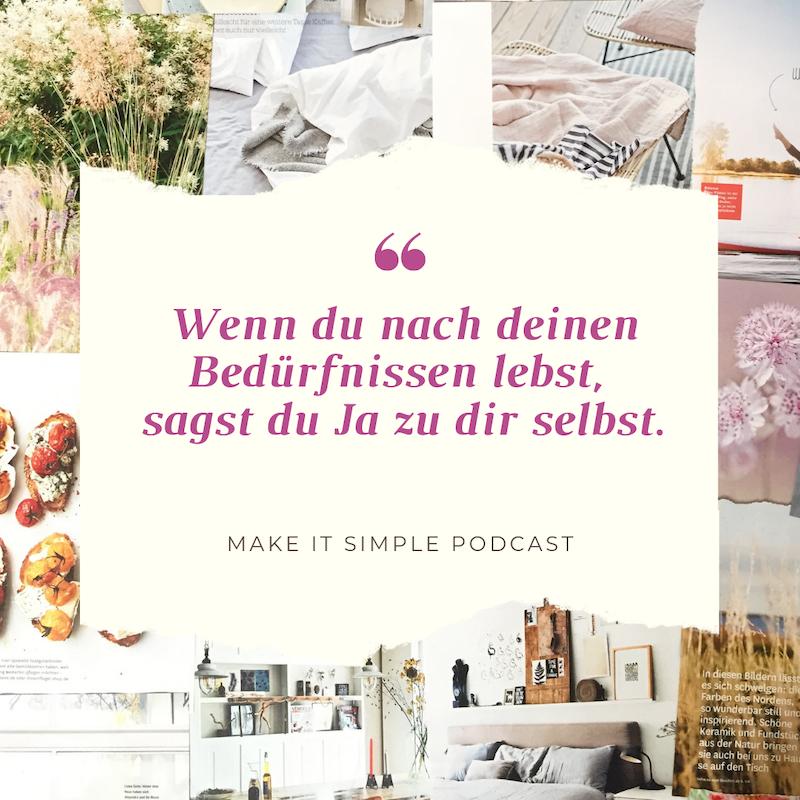Wie du herausfindest was dir wirklich wichtig ist Make it simple Podcast