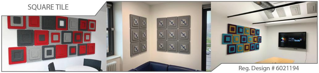 Square acoustic tiles