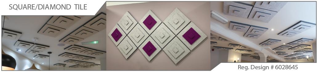 3D acoustic tiles