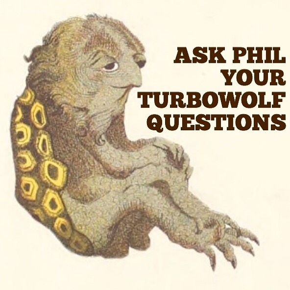 Do you have burning Turbowolf questions you've always wanted answered? Now is your chance! Type them in the comments here and this thing will answer them.  He's called Phil.