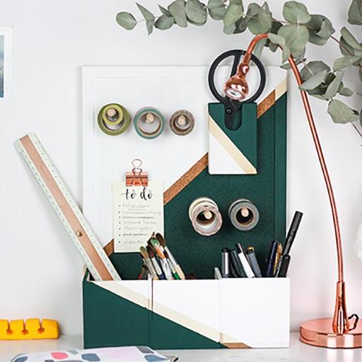 Ordnung für deinen Schreibtisch - Fotos: goldschooldiy.blog