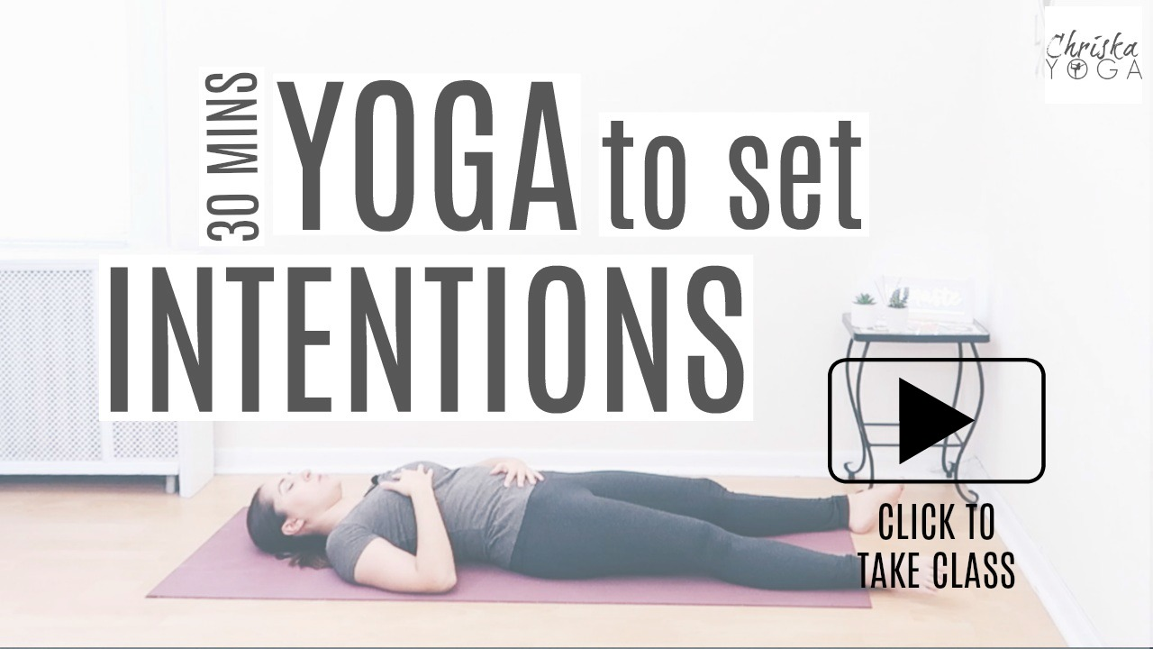 30 Minute Yoga Class to Set Intentions