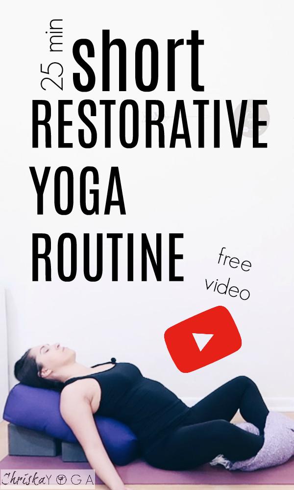 Short 25 Minute Restorative Yoga Class At Home