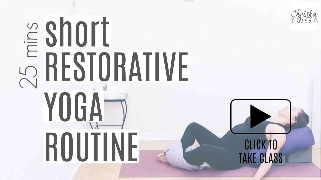 25 Minute Short Restorative Yoga At Home