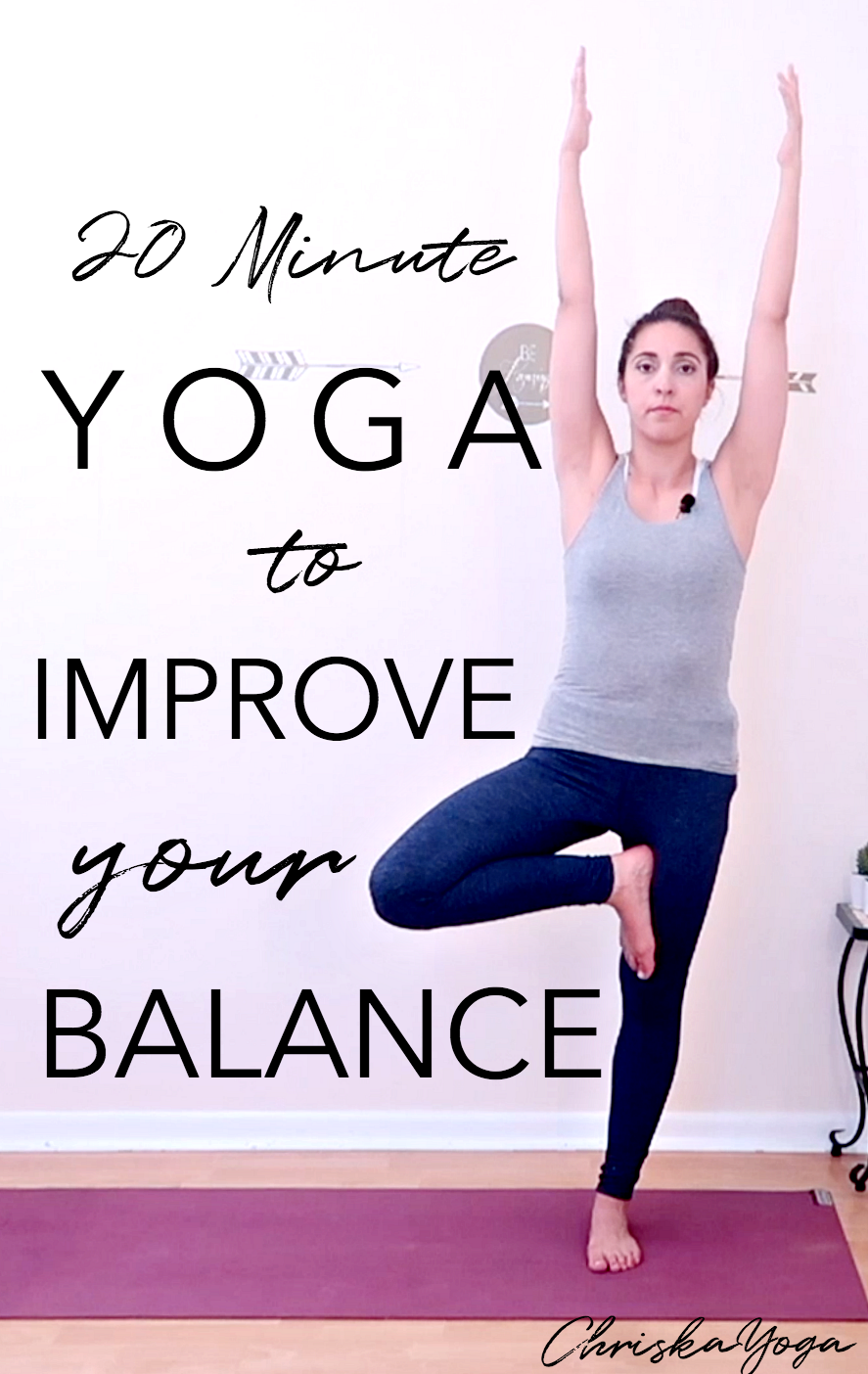 20 Minute Yoga to Improve Balance - Hatha Yoga for Beginners for Balance - Yoga At home