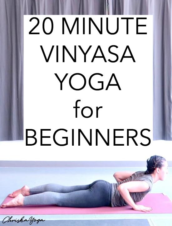 20 minute beginners vinyasa yoga flow - yoga at home for beginners