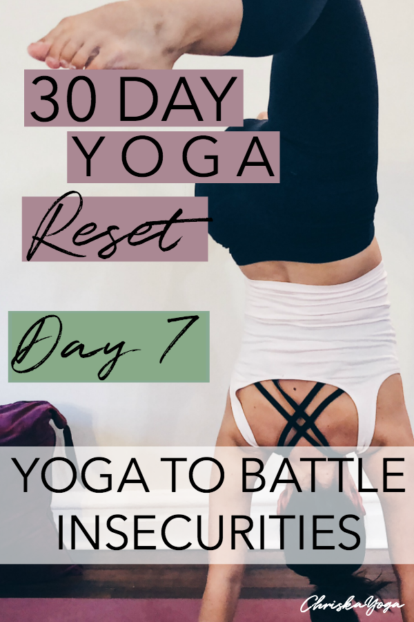 20 minute hatha yoga to battle insecurities - yoga for insecurities