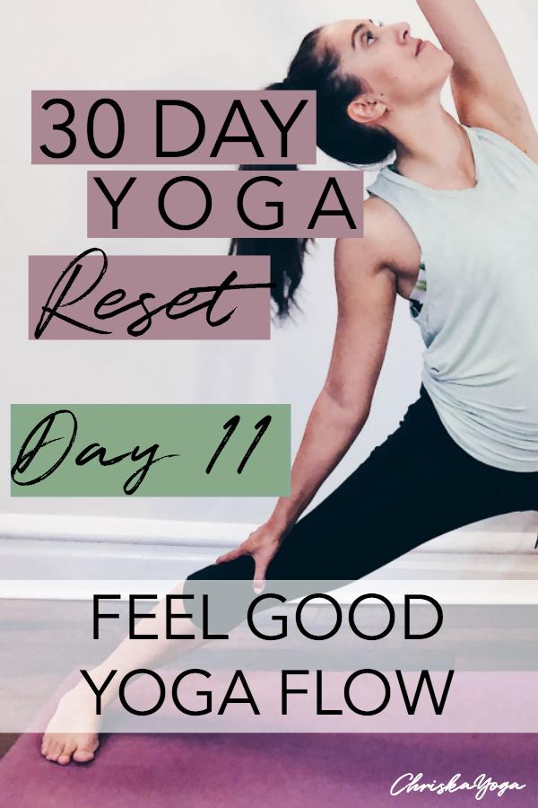 20 minute yoga flow to feel good - 30 day yoga reset challenge
