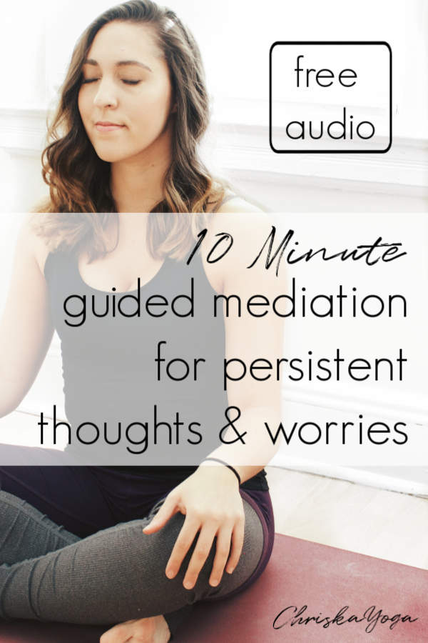 10 minute guided Meditation for negative Thoughts and worries - guided meditation for anxiety