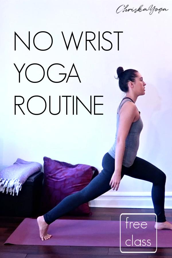 No Wrist Yoga - hands and wrist free yoga - no wrists yoga
