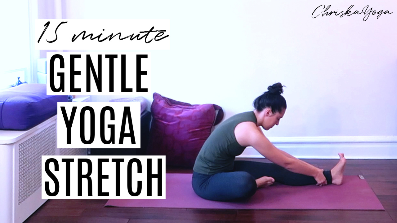 15 minute Gentle Yoga Stretch - easy hatha yoga sequence for beginners