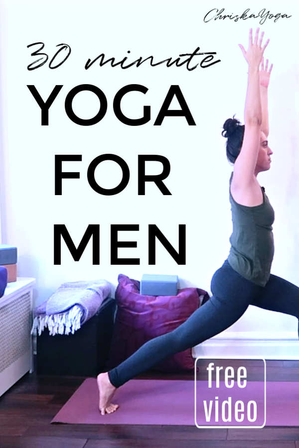 Yoga class for men - 30 minute yoga for shoulder mobility and hamstring flexibility