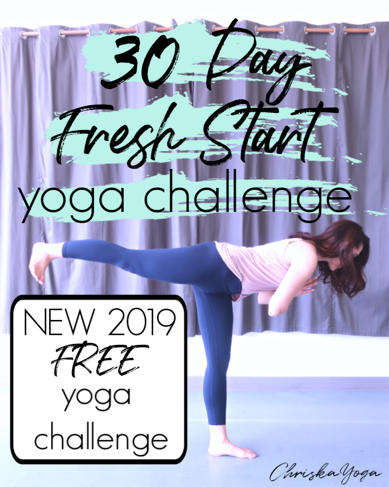 30 Day Fresh Start Yoga Challenge - beginners yoga challenge - 2019 30 day yoga challenge