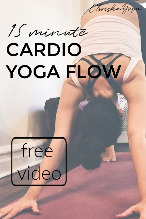 15 Min Cardio Yoga Flow - yoga for weight loss - fat burning yoga workout