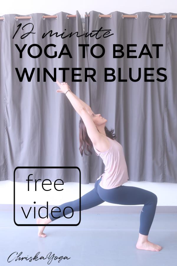 10 Min Yoga for Winter Blues - yoga to make you happy - yoga to give you energy - beginner vinyasa yoga flow