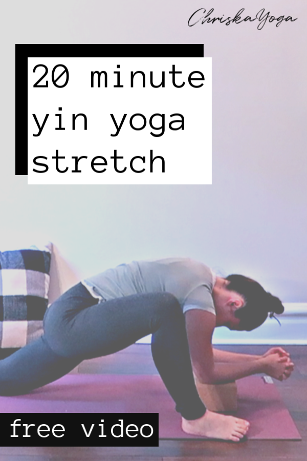 20 Min Yin Yoga Stretch - yin yoga at home - yin yoga for hips