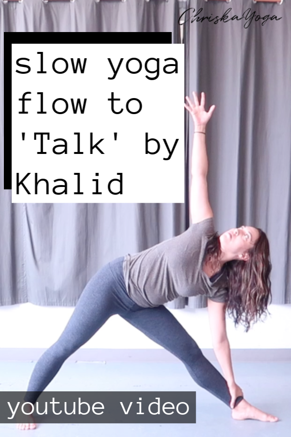Khalid talk yoga flow - 5 minute yoga flow - slow yoga flow