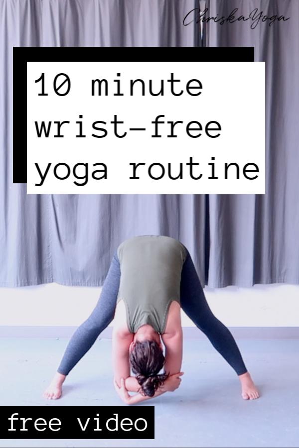 wrist free yoga - hands free yoga - hands free vinyasa yoga - yoga without downward dog
