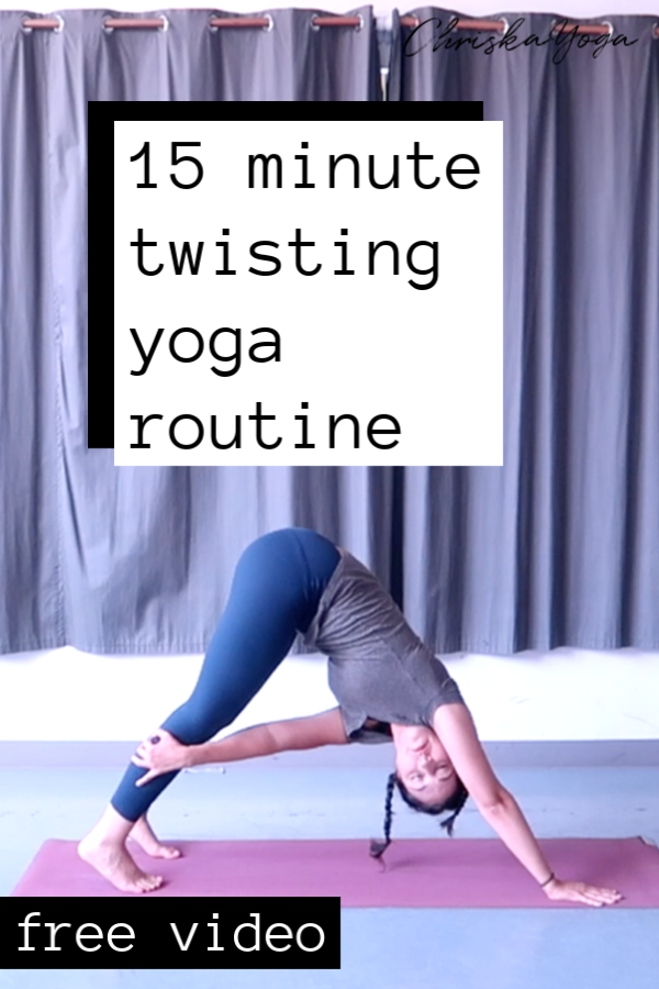 15 minute twisting yoga routine - yoga sequence with twists
