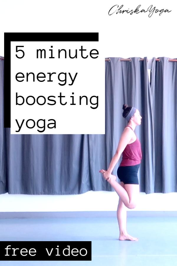 energy boosting yoga - 5 minute yoga energy boost - yoga for energy