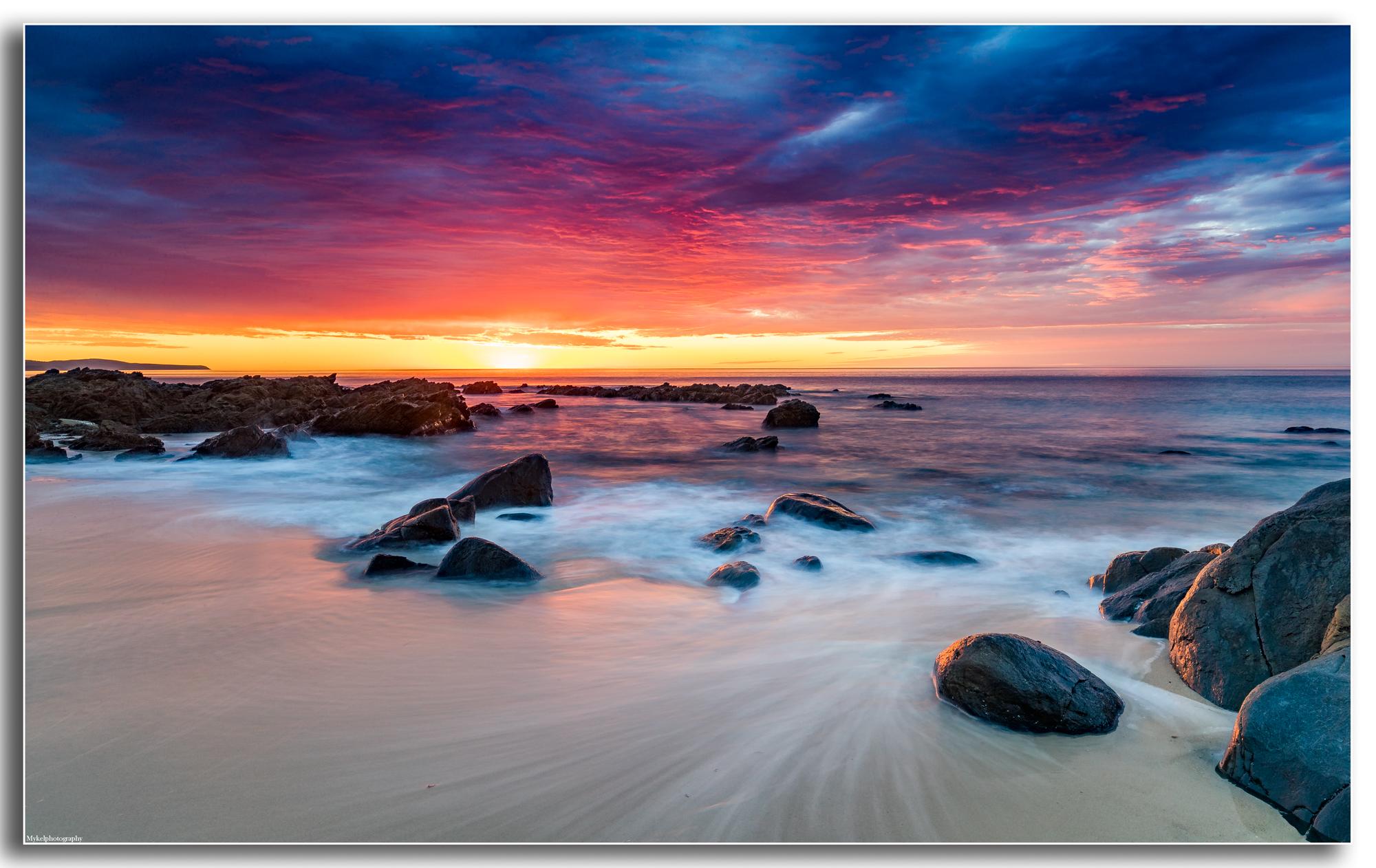 Carrickalinga beach sunset