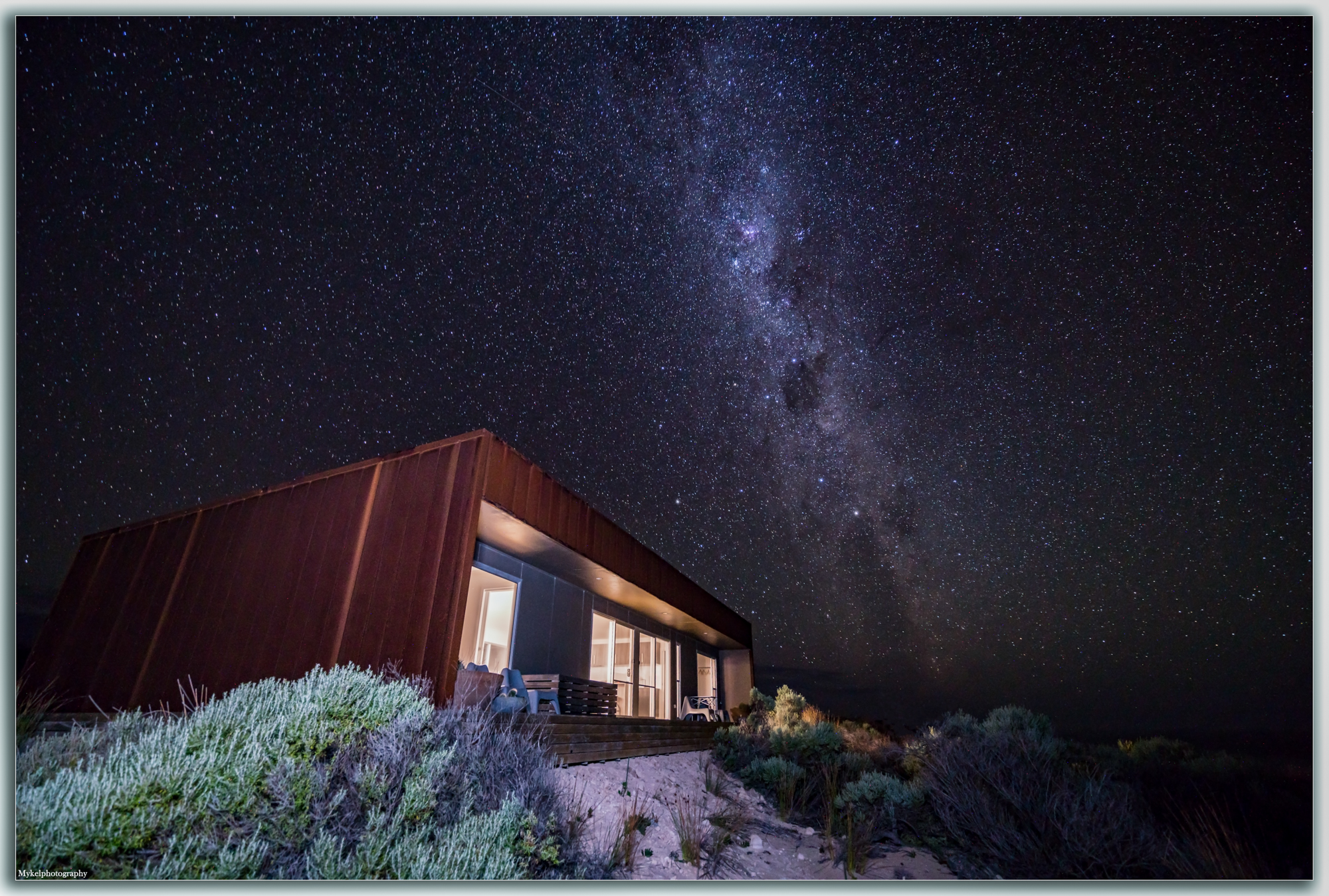 Camel Beach House under the stars, they feel so close you could just reach up and touch them
