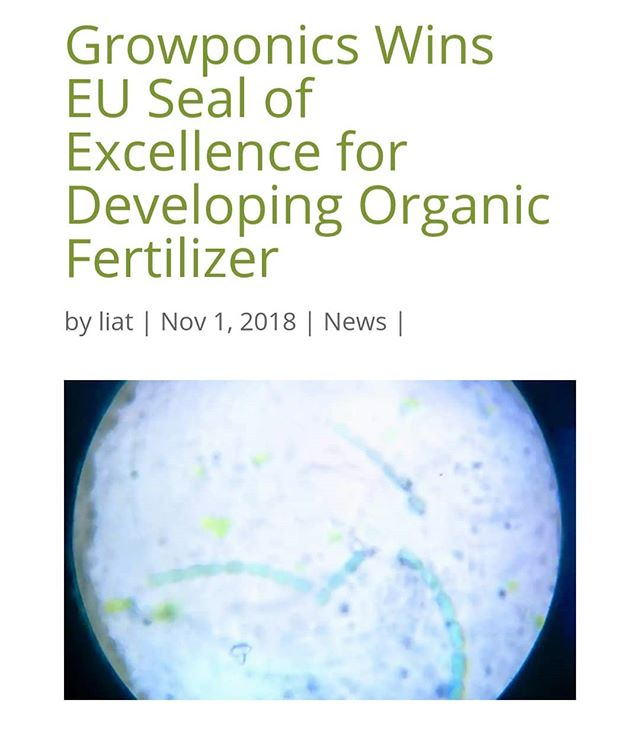 Congratulations to Growponics, once again leading the way in CEA #hydroponics #organic