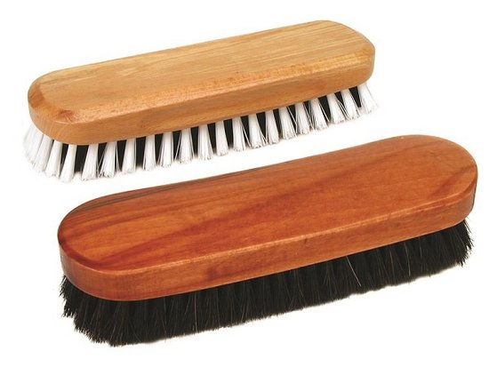 Clothes brushes made with horse hair.