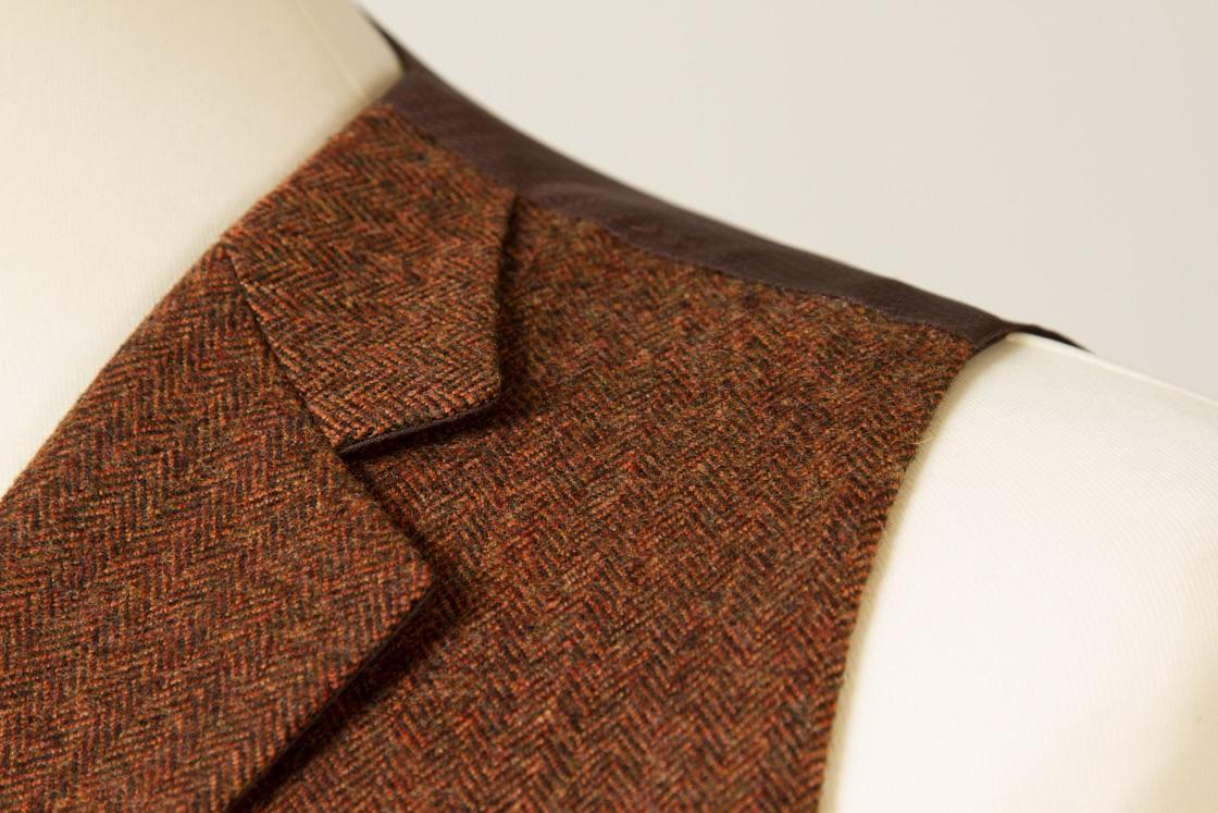6954+-+Waistcoat+Vest+Gilet+tailor+made+Rust+Herringbone+38+inch+(6).jpg