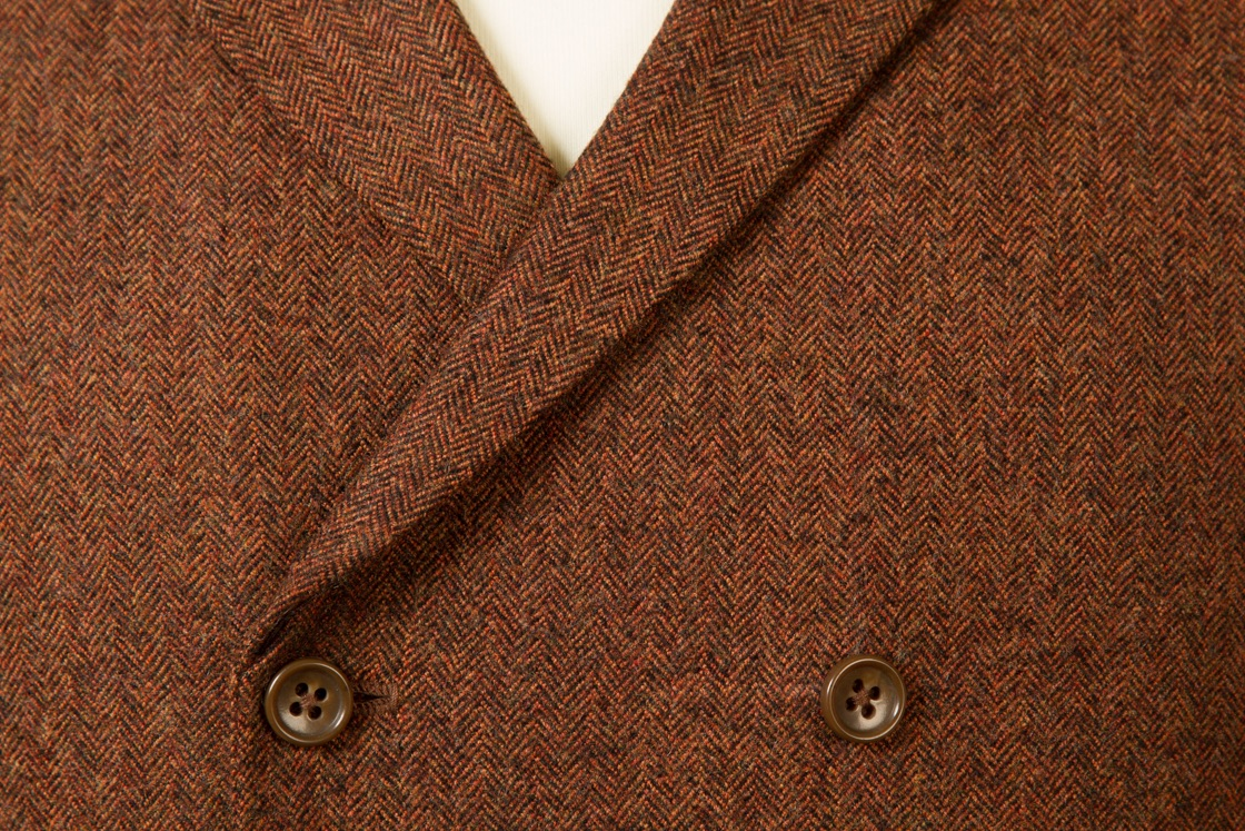 6954+-+Waistcoat+Vest+Gilet+tailor+made+Rust+Herringbone+38+inch+(3).jpg