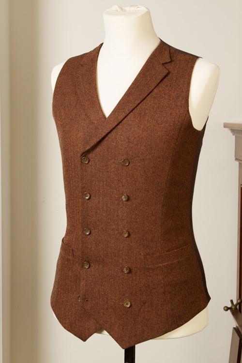 6954+-+Waistcoat+Vest+Gilet+tailor+made+Rust+Herringbone+38+inch+(10).jpg