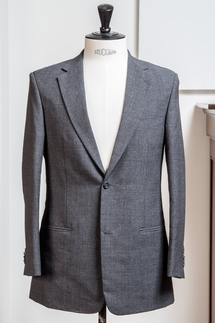 - Travel Suit Crease Free Charcoal All-Round Holland&Sherry Crispaire