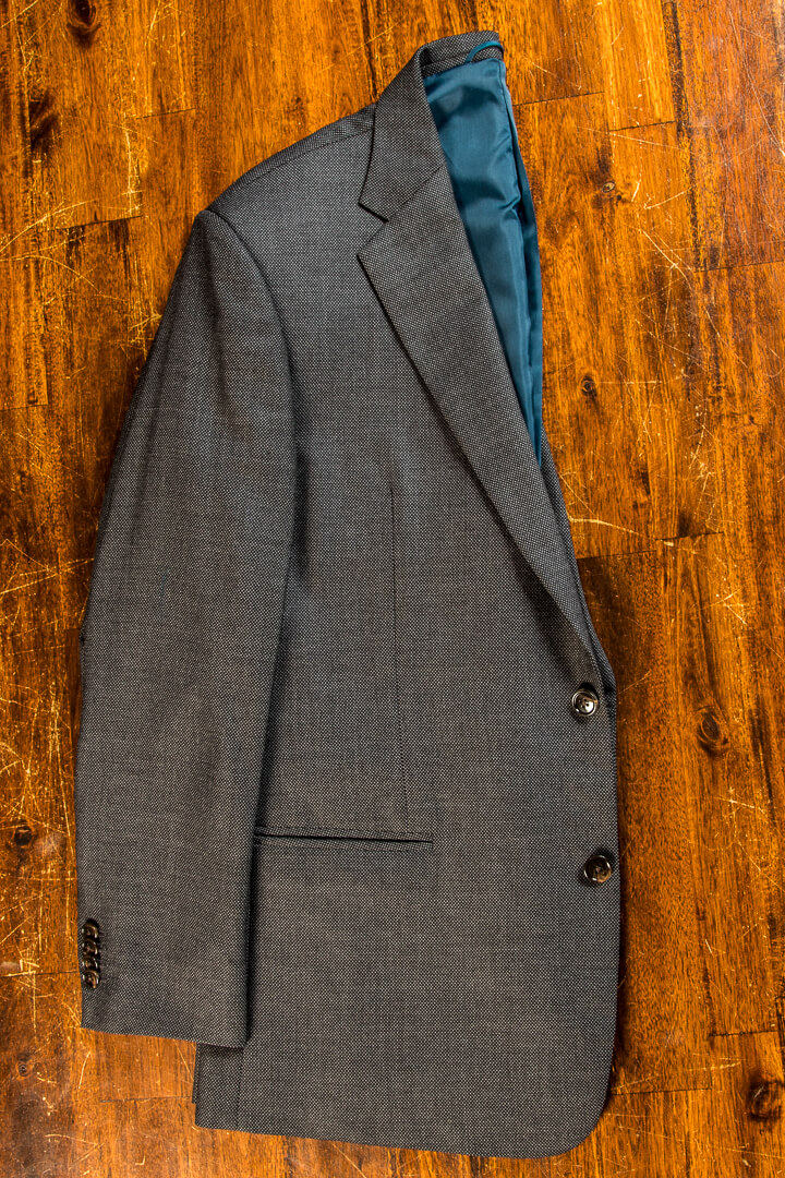- Birdseye Worsted Suit 9oz 11oz 2 Button Brown Buttons John Cooper Vintage Holland&Sherry