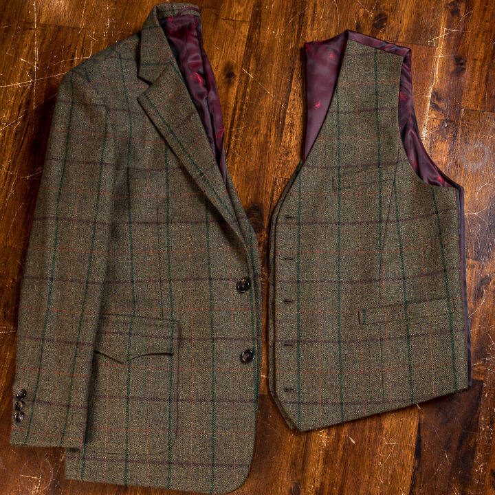 - Hunters Outfit Golf Tweed Suit 3 Piece FourPlus Trousers