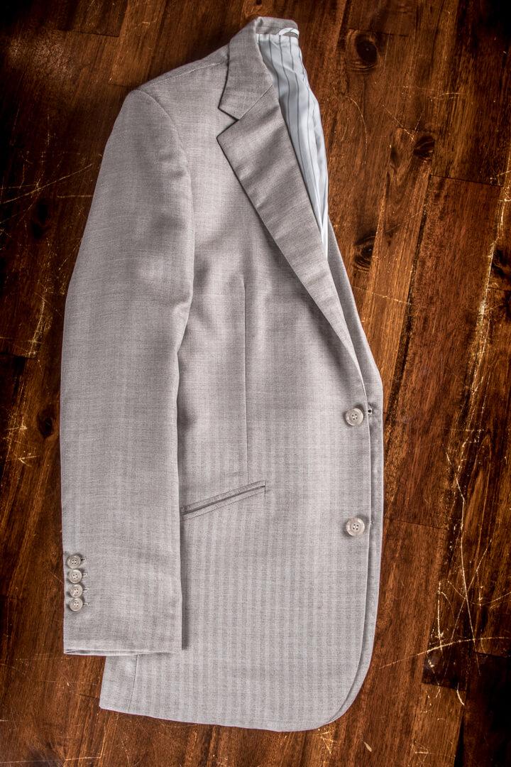 - Piacenza 1733 Alashan Cashmere Silk Suit Herringbone 190/200grm