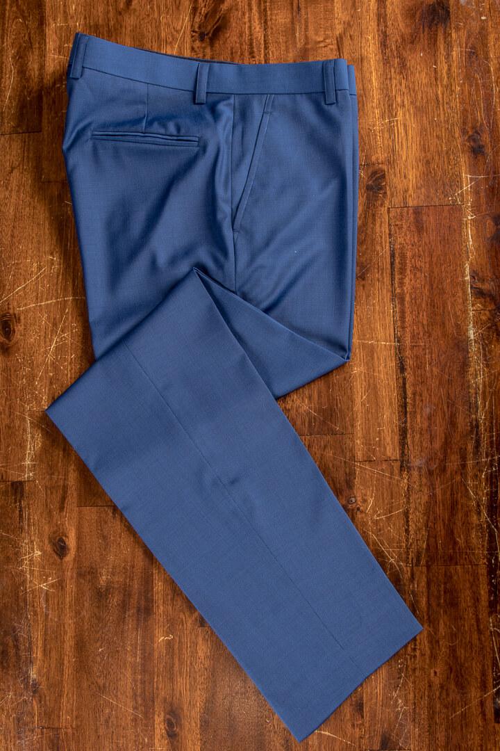 - Hand Made Blue Pinhead Bespoke Trousers