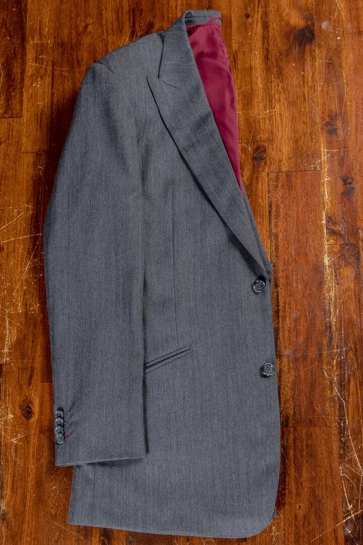 - Bespoke Suit For Work Dark Grey Herringbone Worsted Wool Cashmere