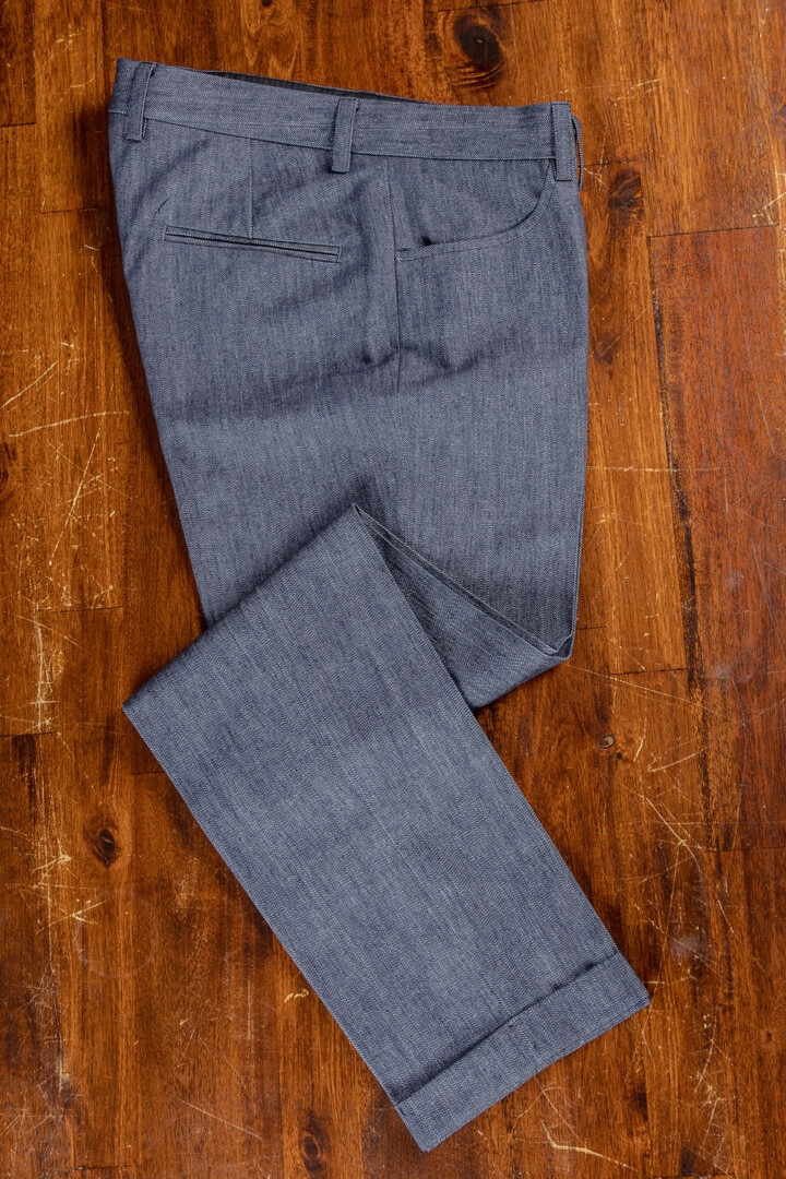 - Heavy Weight Denim Jeans Tailored Trousers Dutch Design