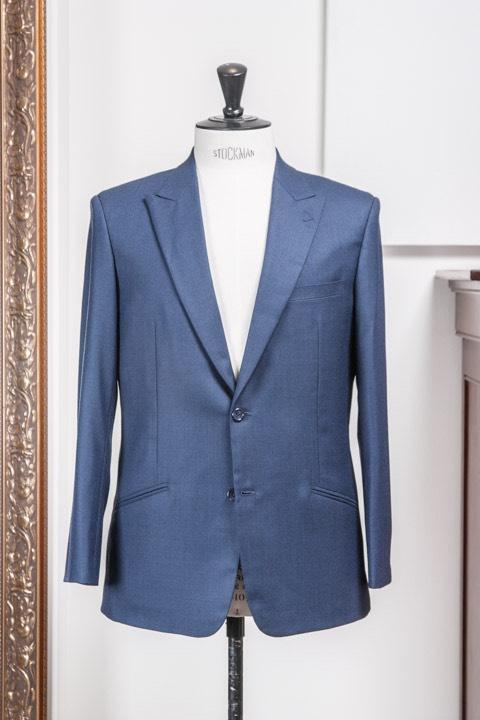 - Super 140s Light Blue Birdseye Suit 2-Piece Bespoke Royal Mile Holland&Sherry