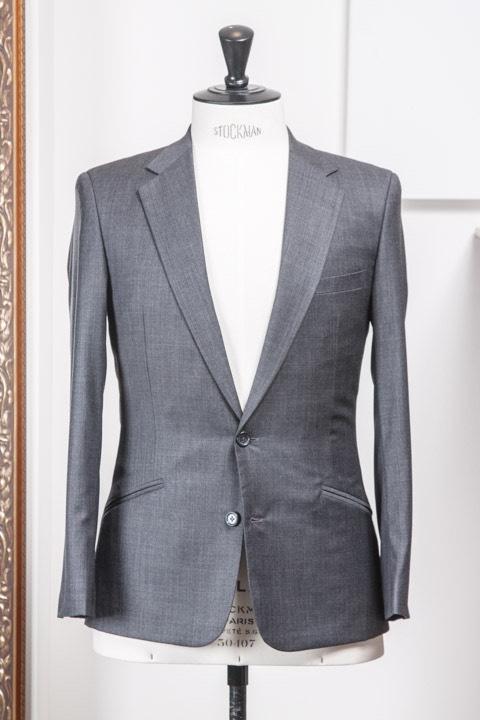 - Super 120s Wool Sharkskin Twill Light Weight Work Suit Huddersfield Worsteds