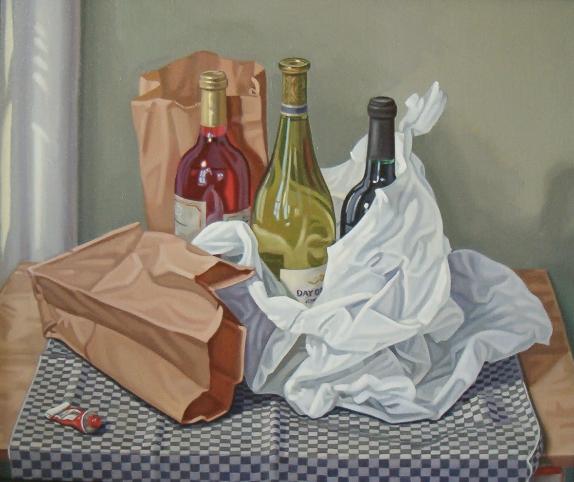 Still Life with Checkered Cloth
